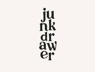 junk drawer productions 2 sketch brand identity brand minimal illustrator vintage typography logo design branding and identity logo branding