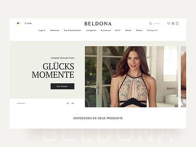 BELDONA - Lingerie online shop concept desktop web design ux ui magento agency lingerie shop shop lingerie e-commerce ecommerce