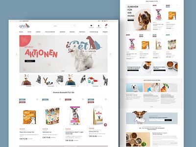 iPet - pet food online store ux ui web design cats dogs magento agency magento ecommerce e-commerce shop store pet food pet