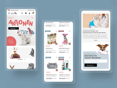 iPet - pet food online store cats dogs food pet store ui ux shop magento e-commerce ecommerce magento agency