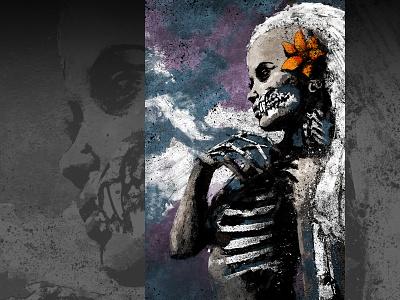 The Beast Within xithlion skull illustration horror fantasy digital painting digital art dark comic