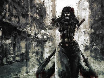 Renee/Hateborn xithlion illustration horror fantasy digital painting digital art dark comic