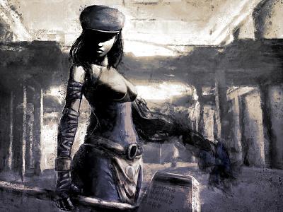 Zarina/Hateborn xithlion illustration horror fantasy digital painting digital art dark comic