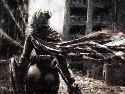 Dayana/Hateborn xithlion illustration horror fantasy digital painting digital art dark comic