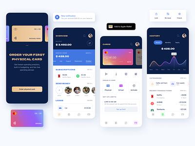 Skyline Banking wallet application card swift credit card bank finance finances ios mobile ux ui figma dev design app android development software skyline