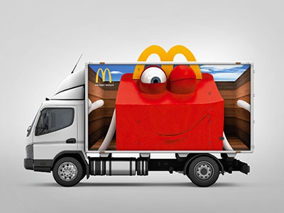 McDonald's Truck design graphic design creative design art direction