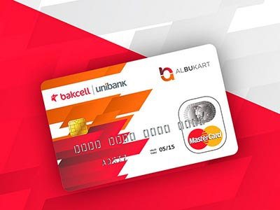 Logo and DebitCard design for Bakcell and Unibank art direction graphic design