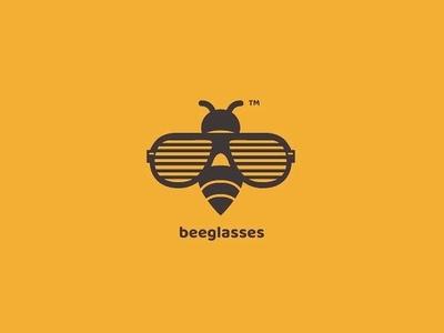 Logo for sunglasses boutique bee sunglasses glasses logo