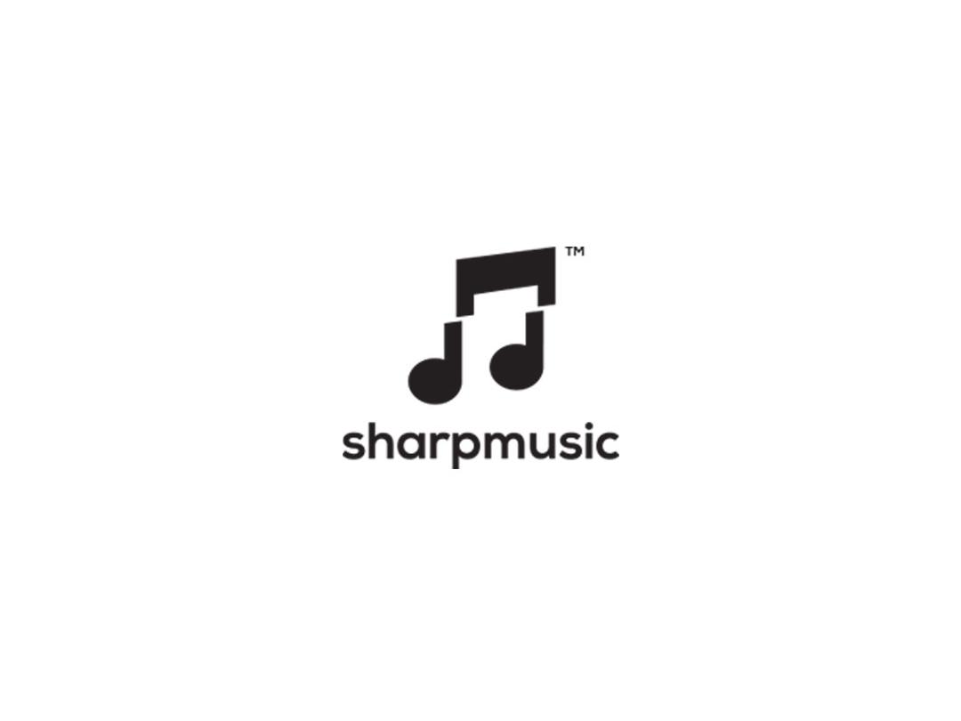 Sharp music sharp store wave musician music logodesign graphicdesign design logos logo