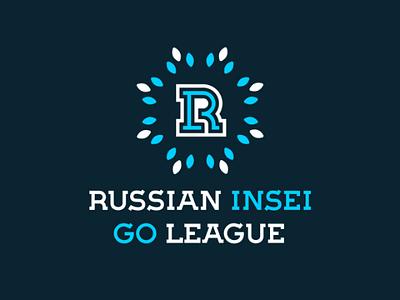 Russian Insei Go League letter r monogram logo weiqi baduk go insei russian league