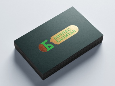 Business capital gold embossing business card business capital