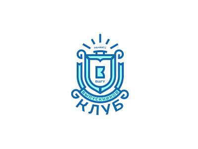 Alumni club kb monogram crest logo alumni club