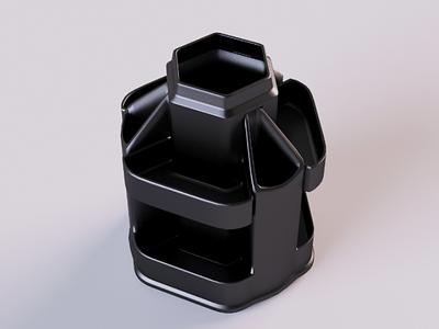 Organizer 3D 3d model organizer statinery