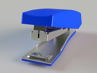 Stapler 3D stationary stapler 3d model