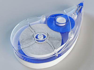 Corrector 3D stationery corrector 3d model