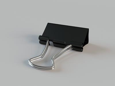 Binder clip 3D stationery binder clip 3d model