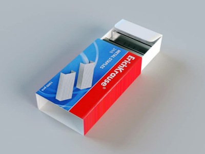 Staples 3D package stationery package metal staples 3d model
