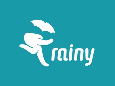 Rainy rainy walking umbrella hand fingers