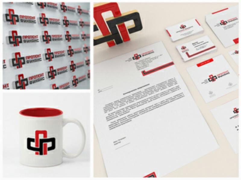 Protect finans logo design identity 3d render