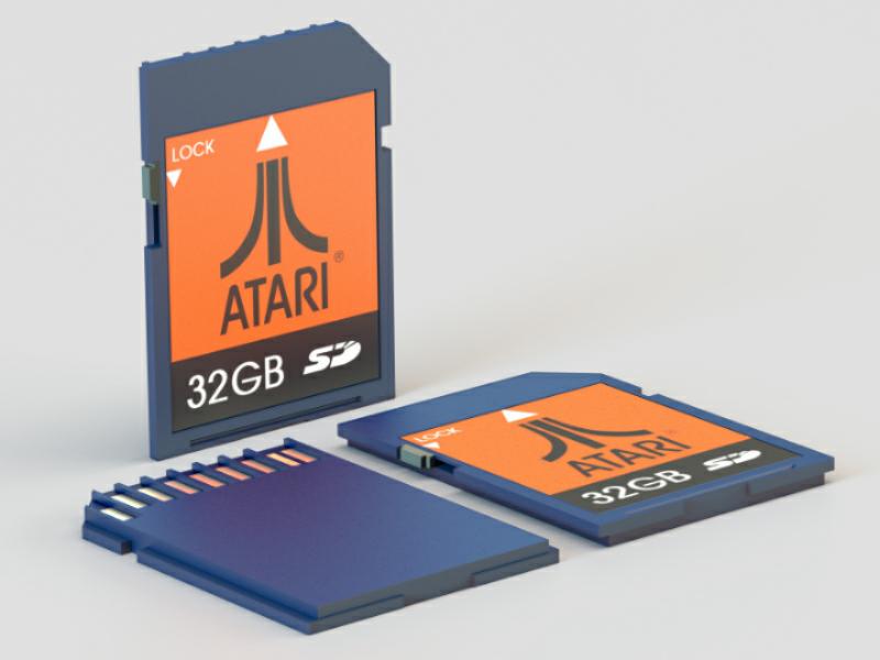 SD card 3d sd-card render modeling