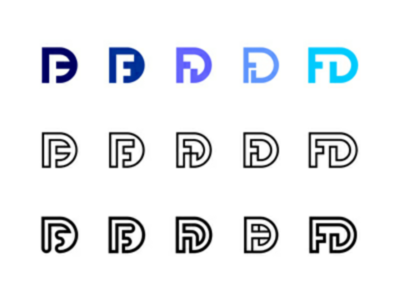 FD fd monogram mark variants