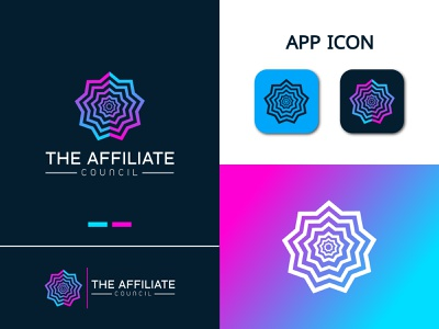 Affiliate logo design. coloring logo