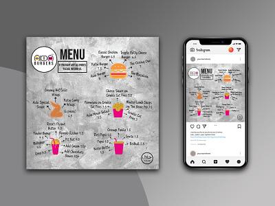 Restaurant Menu Design. socialmediaposts
