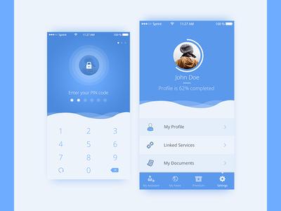 App Design WIP ui user profile login login screen