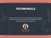 [WIP] Testimonials Section for Fitness Trainer