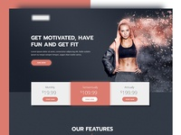 Website For Fitness Training Center