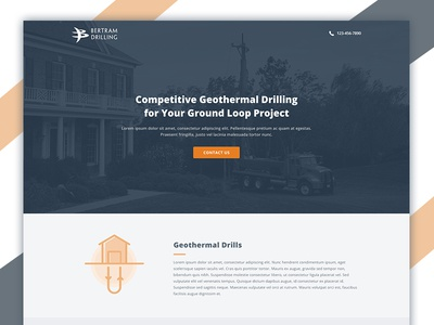 Geothermal Drilling Landing Page Design geothermal drilling instapage landing page