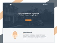 Geothermal Drilling Landing Page Design