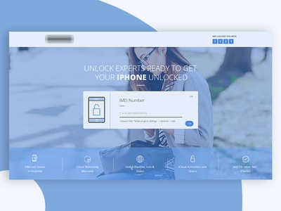 [WIP] Redesign for iPhone Unlock Checker Service blue imei unlock iphone