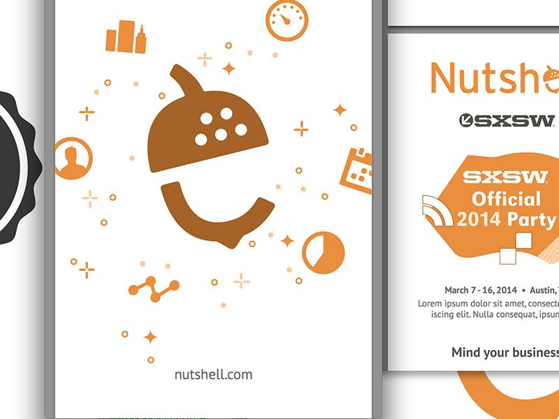 Nutshell print design graphic design branding logo design color palette design typography swag print design