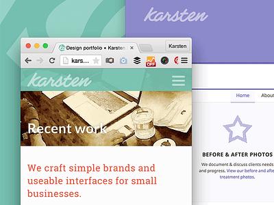 Karsten Rowe web design harrogate responsive home page web design