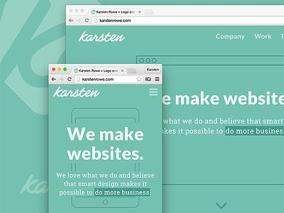 Karsten Rowe web design yorkshire harrogate responsive home page web design