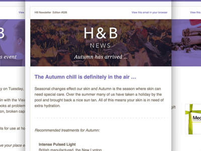 Email newsletter design autumn harrogate email newsletter