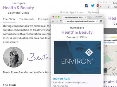 Harrogate Health & Beauty web design ecommerce responsive design web design harrogate