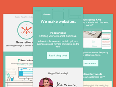 Karsten Rowe Email Design email marketing mailchimp harrogate
