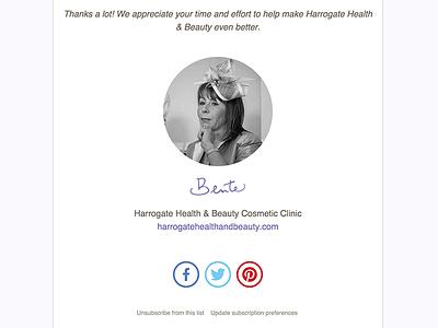 Harrogate Health & Beauty email design email marketing mailchimp harrogate