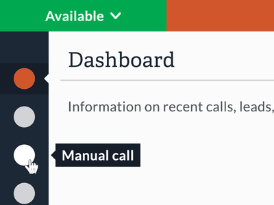 ChaseData UI Design tool tips app design call center responsive design media queries small screens