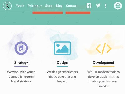 Karsten Rowe Web Design responsive tablet texture paint icons home page design agency harrogate web design