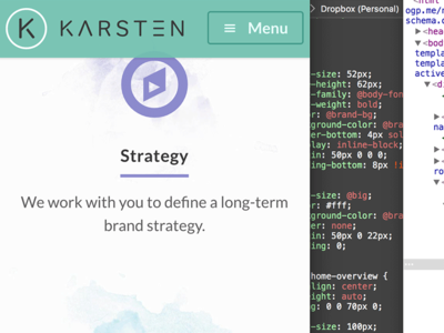 Karsten Rowe Web Design responsive mobile texture paint icons home page design agency harrogate web design