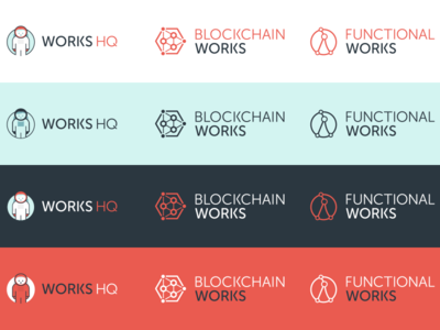 Works HQ Branding wip typography color guide style guide branding logo design