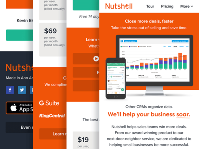 Nutshell Home Page Mobile Iteration