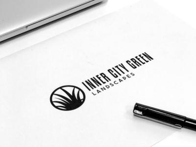 Inner City Green Landscapes Brand Concept illustration branding design art graphic design business australia brand design branding logo