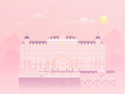 The Grand Budapest Hotel architecture hotel illustration grand budapest wes anderson