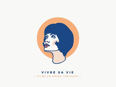 Vivre sa vie muse 1960 illustration vivre sa vie film french new wave godard anna karina