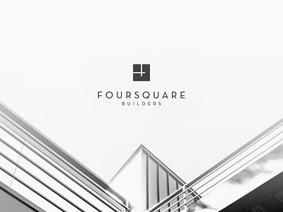 Foursquare Builders typography branding foursquare builders font type design logo rebrand