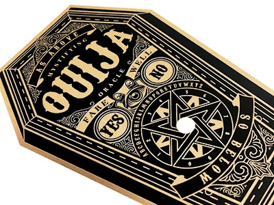 Ouija Coffin Planchette esoteric occult ouija board ouija planchette coffin